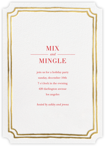 Roosevelt - Gold - Sugar Paper - Christmas invitations