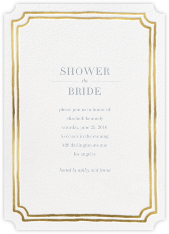 Roosevelt - Gold - Sugar Paper - Bridal shower invitations