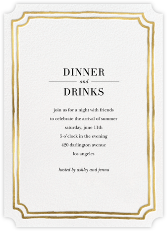 Roosevelt - Gold - Sugar Paper - Dinner Party Invitations