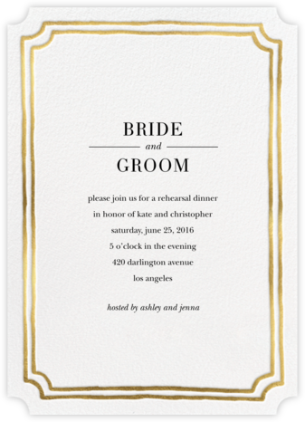 Roosevelt - Gold - Sugar Paper - Wedding Weekend Invitations