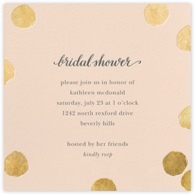 Big Dot Bridal - Meringue/Gold - Sugar Paper - Bridal shower invitations