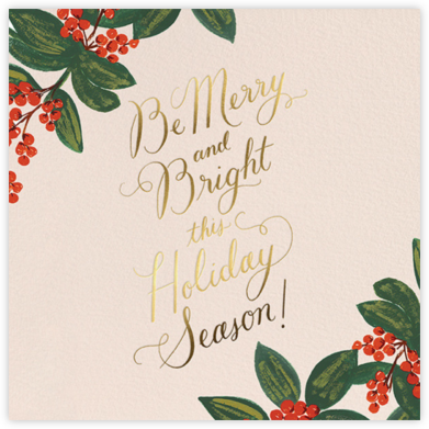 Holly Berries - Rifle Paper Co. - Holiday Cards