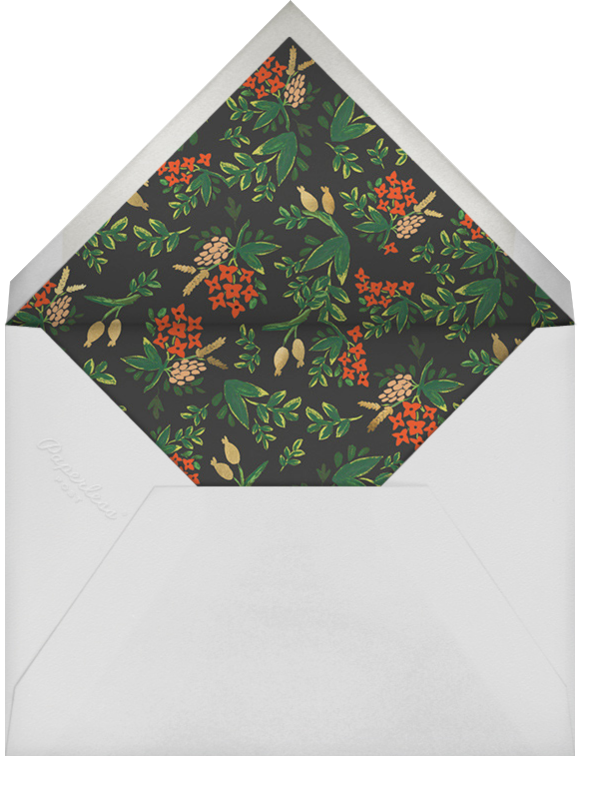 Poinsettia Garland - Rifle Paper Co. - Holiday cards - envelope back