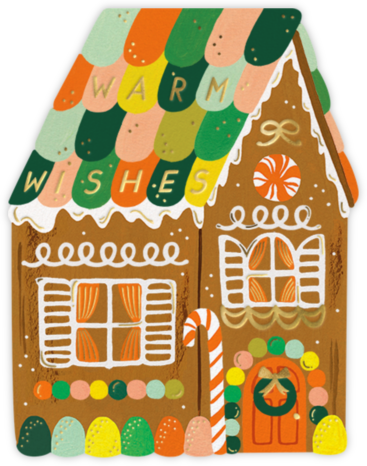 Gingerbread House (Greeting) | tall