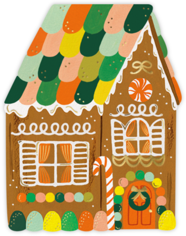 Gingerbread House (Invitation) - Rifle Paper Co. - Rifle Paper Co.