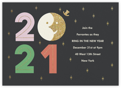 Sunset on 2020 - Paperless Post - New Year's Eve Invitations