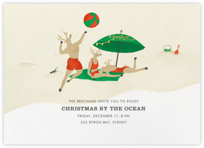 Reindeer Beach Games - Paperless Post -