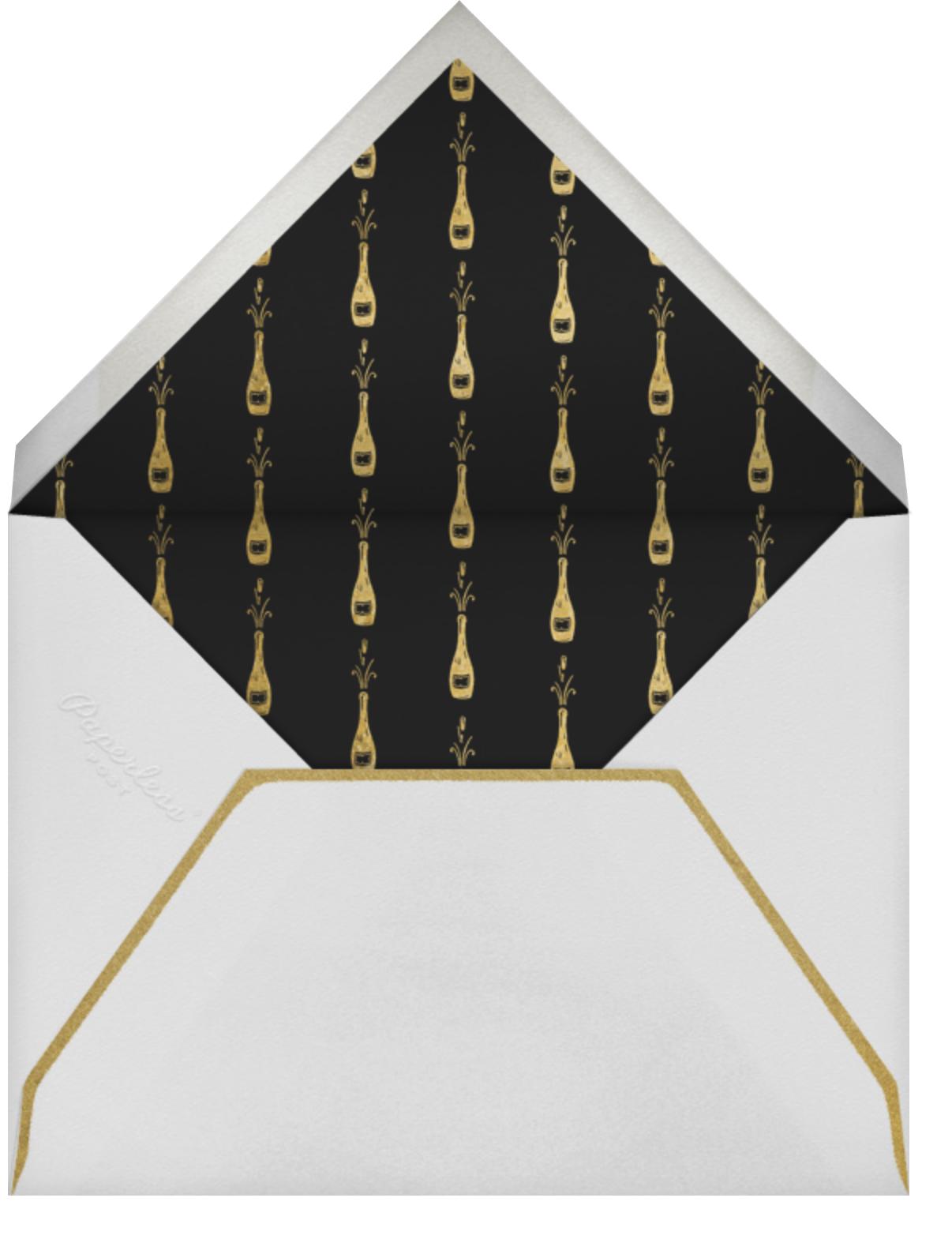 Penguin Popper - Paperless Post - New Year's Eve - envelope back