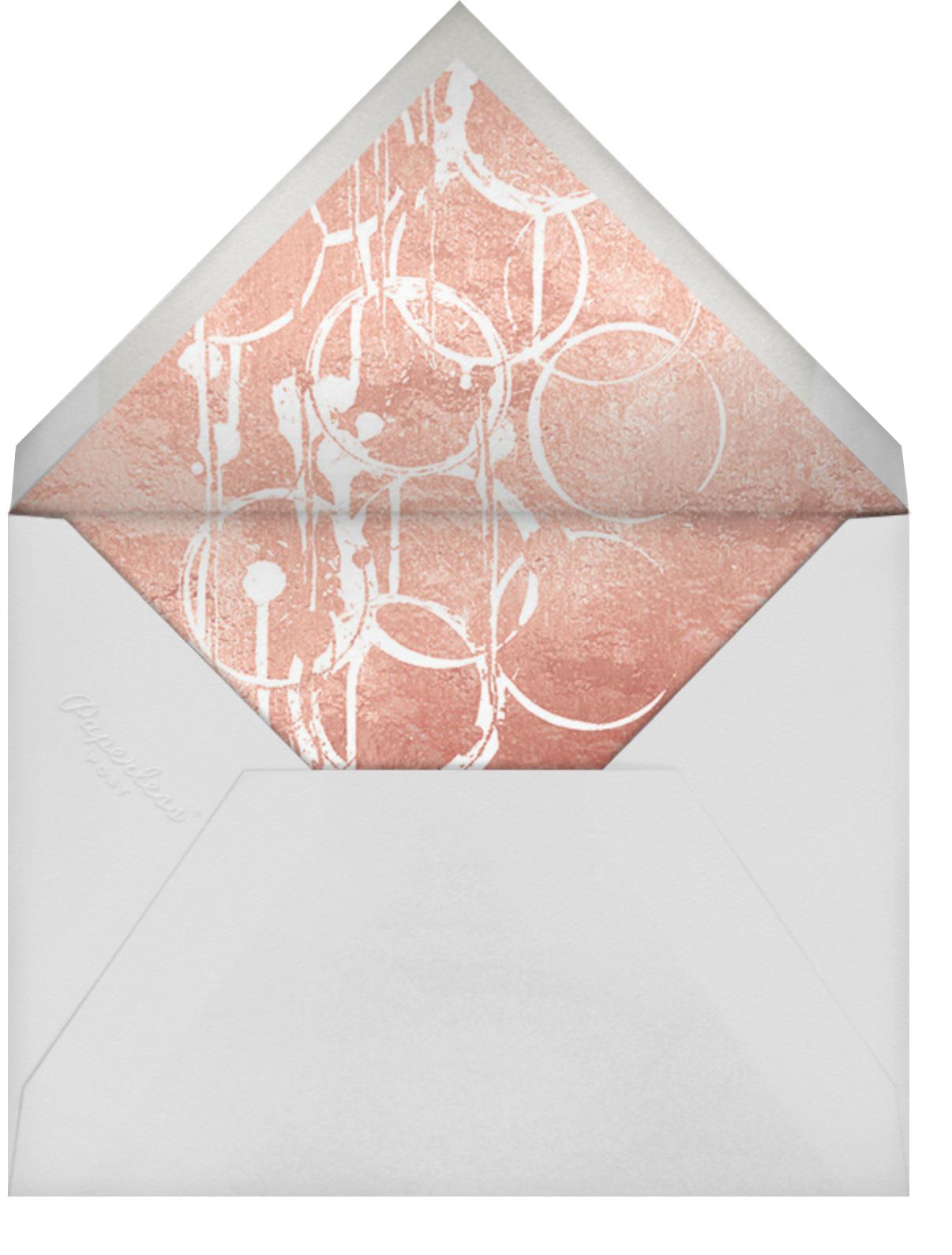 Bottle Shock - Rose Gold - Kelly Wearstler - Graduation party - envelope back