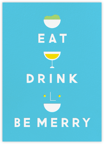 Eat Drink And Be Merry - Blue - The Indigo Bunting -