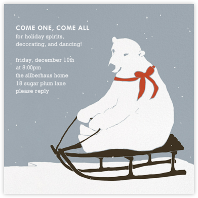 Polar Bears, They're Just Like Us - Paperless Post - Winter Party Invitations