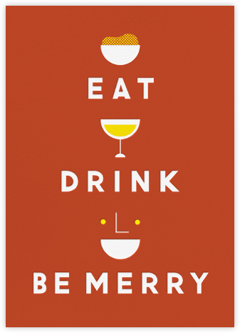 Eat Drink And Be Merry - Red - The Indigo Bunting -