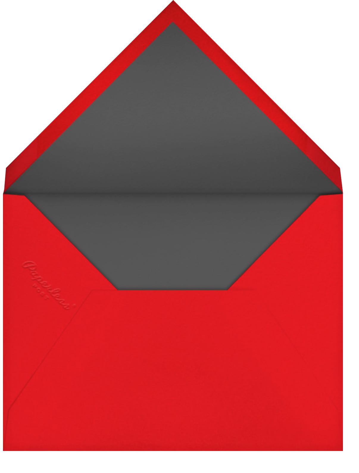 Downward Slope - Derek Blasberg - Birthday - envelope back