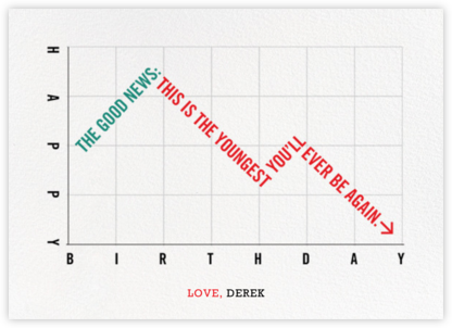 Downward Slope - Derek Blasberg - Birthday Cards