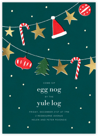 Holiday Bunting - Paperless Post - Christmas invitations
