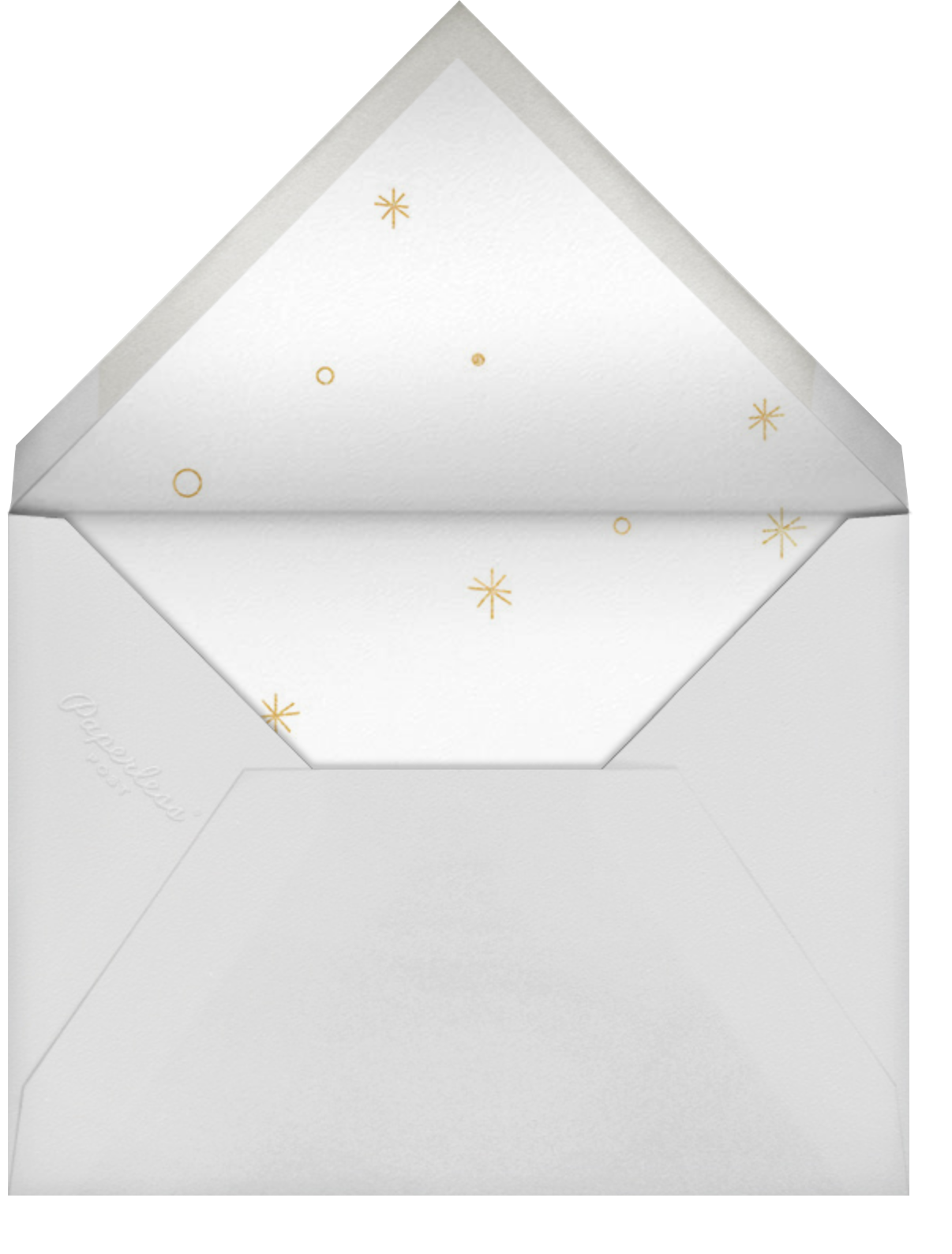A Waste of an Invitation - Derek Blasberg - Holiday party - envelope back