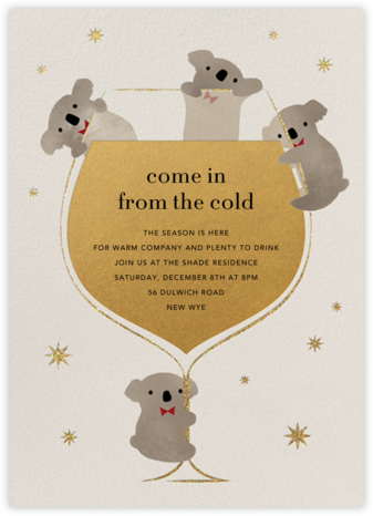 Do Drop By Bears - Paperless Post - New Year's Eve Invitations