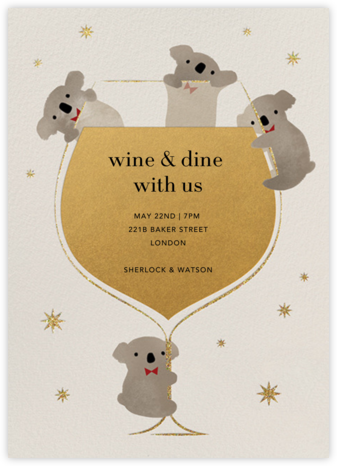 Do Drop By Bears - Paperless Post - Happy Hour Invitations
