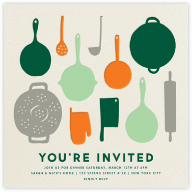 Pantry - Forest Mint - The Indigo Bunting - Dinner party invitations