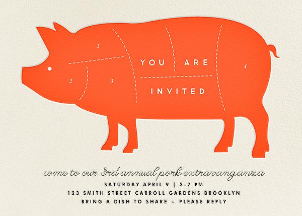 Pig - The Indigo Bunting - Summer entertaining invitations