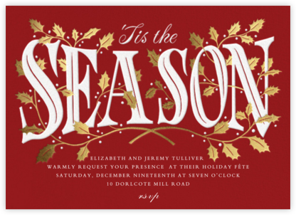 Holly Trellis - Paperless Post - Holiday invitations