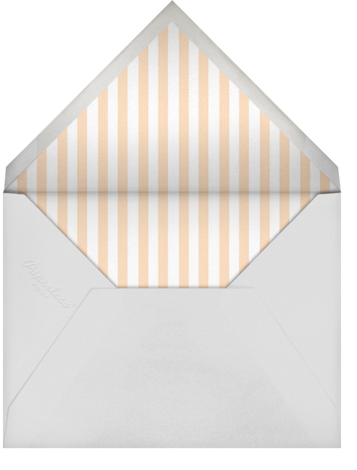 Roosevelt - Silver - Sugar Paper - Baby shower - envelope back