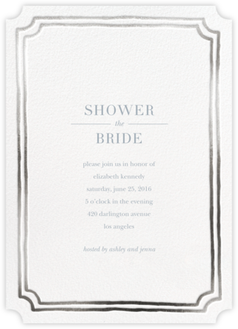 Roosevelt - Silver - Sugar Paper - Bridal shower invitations