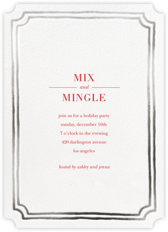Roosevelt - Silver - Sugar Paper - Winter Party Invitations