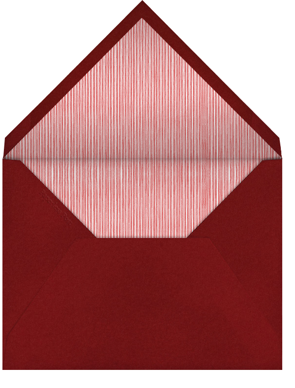 Candy Cane - Pistachio - Paperless Post - Save the date - envelope back