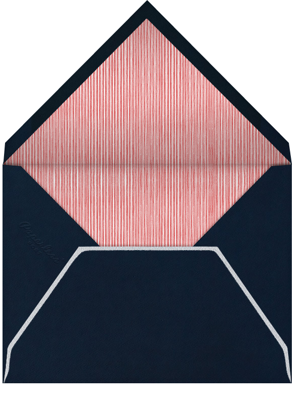 Candy Cane (Square) - Midnight - Paperless Post - Christmas party - envelope back