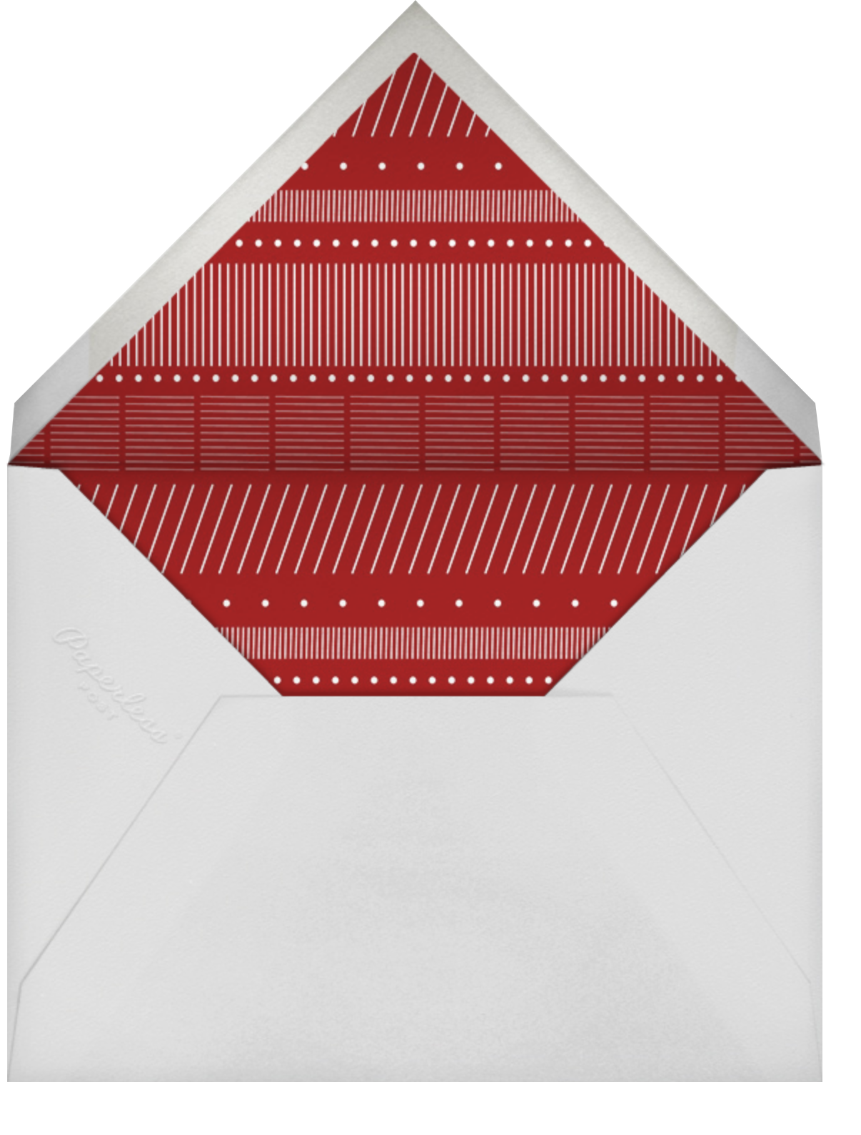 Reindeer Gala - Paperless Post - Christmas - envelope back