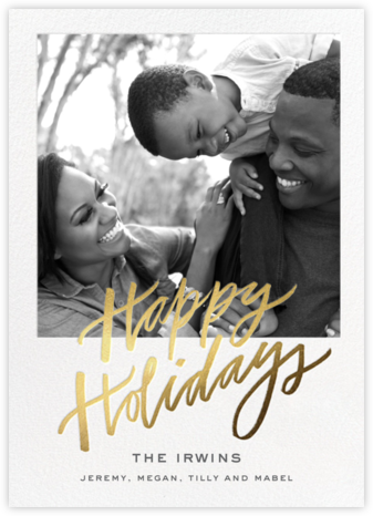 Happy Golden Days - Cheree Berry - Holiday photo cards