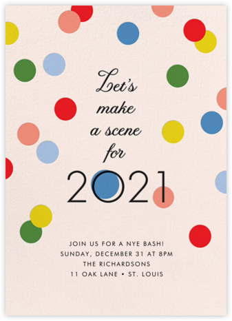 Making Scenes 2021 - Cheree Berry Paper & Design - New Year's Eve Invitations