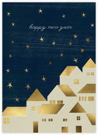 Starry Village (Blance Goméz) - Red Cap Cards - New Year cards