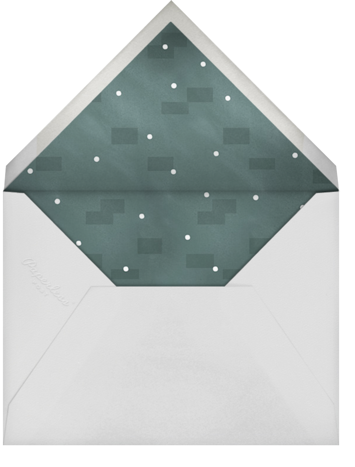 Shining Wreath - Paperless Post - Holiday cards - envelope back