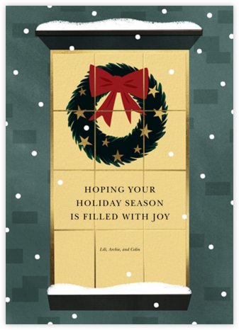 Shining Wreath - Paperless Post - Holiday Cards