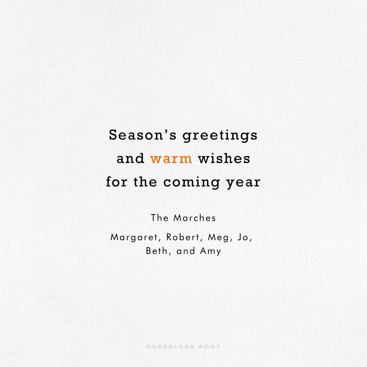 Mr. Snowman - Paperless Post - Christmas - card back