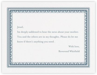 Banque (Thank You) - Peacock - Crane & Co. - Sympathy cards