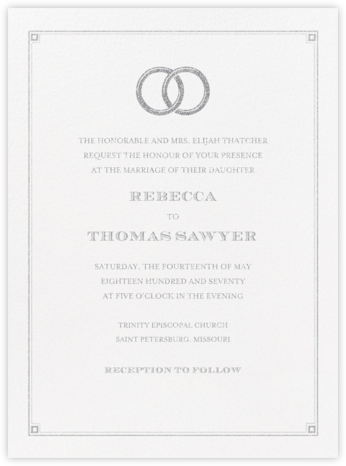 Candela - Platinum - Crane & Co. - Wedding Invitations