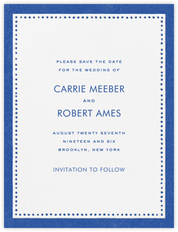 Charlotte Street I (Save the Date) - kate spade new york - Save the dates