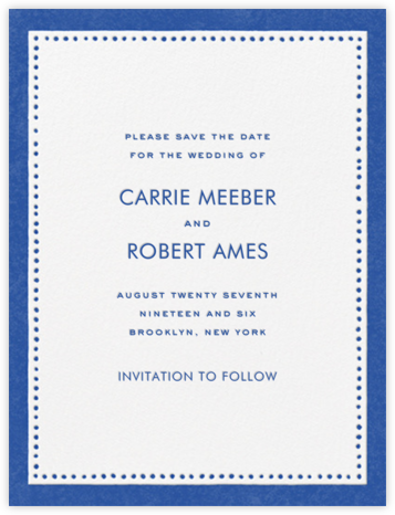 Charlotte Street I (Save the Date) - kate spade new york - Classic save the dates