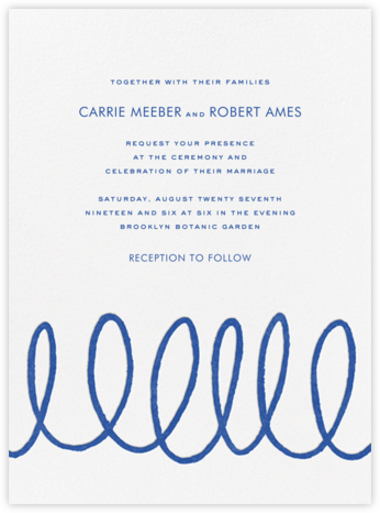 Charlotte Street I (Invitation) - kate spade new york - Wedding Invitations