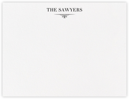 Cheverny (Thank You) - Black - Crane & Co. - Personalized Stationery