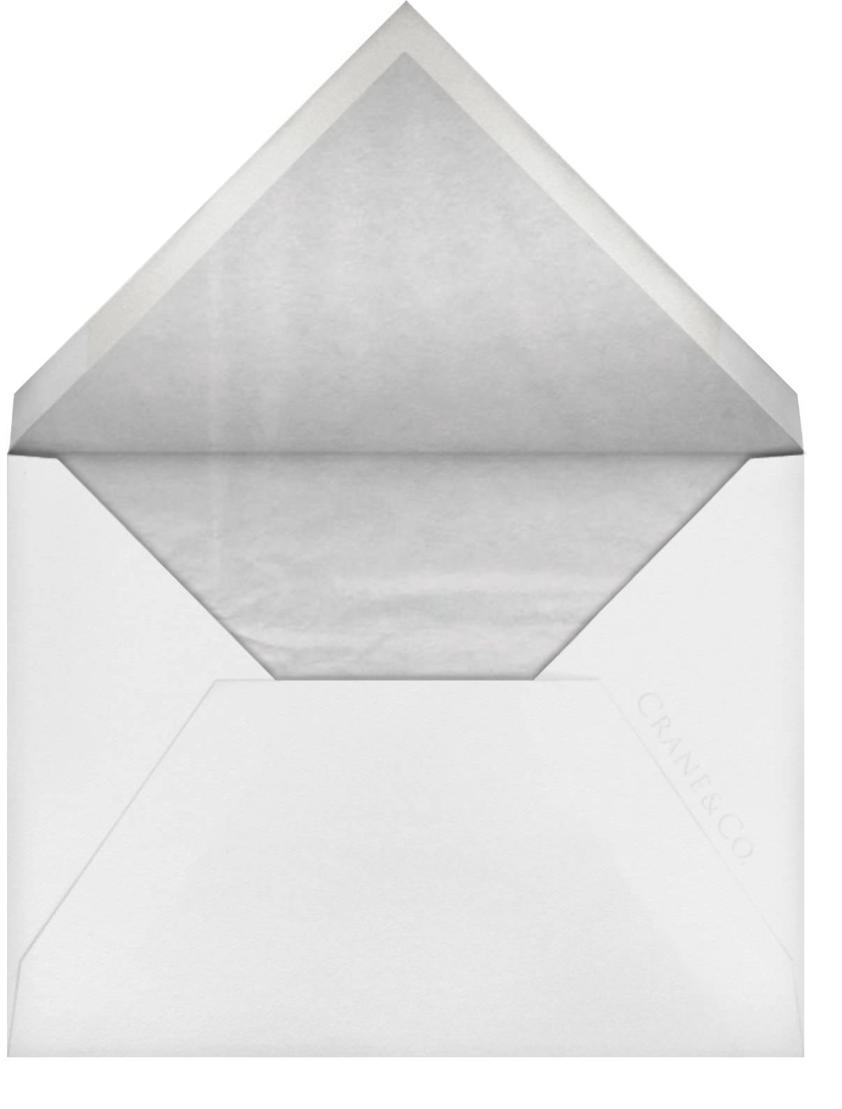 Cheverny (Thank You) - Black - Crane & Co. - Personalized stationery - envelope back