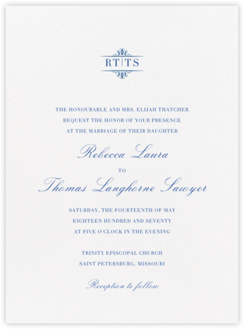 Cheverny - Regent Blue - Crane & Co. - Wedding invitations