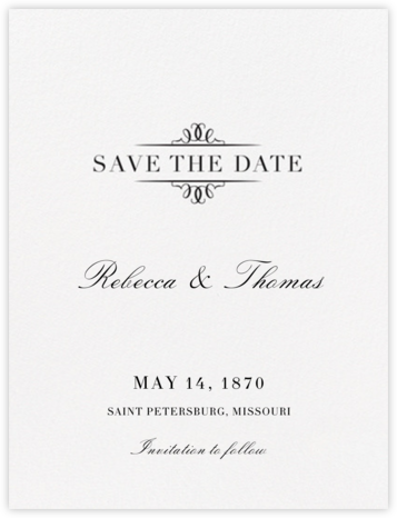 Cheverny (Save The Date) - Black | null