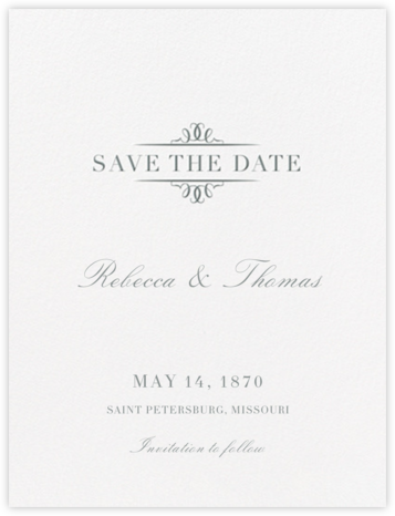 Cheverny (Save The Date) - Pewter Gray - Crane & Co. - Save the dates