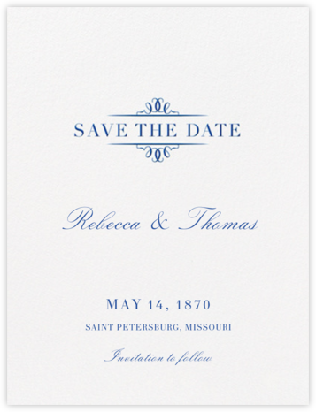 Cheverny (Save The Date) - Regent Blue | null