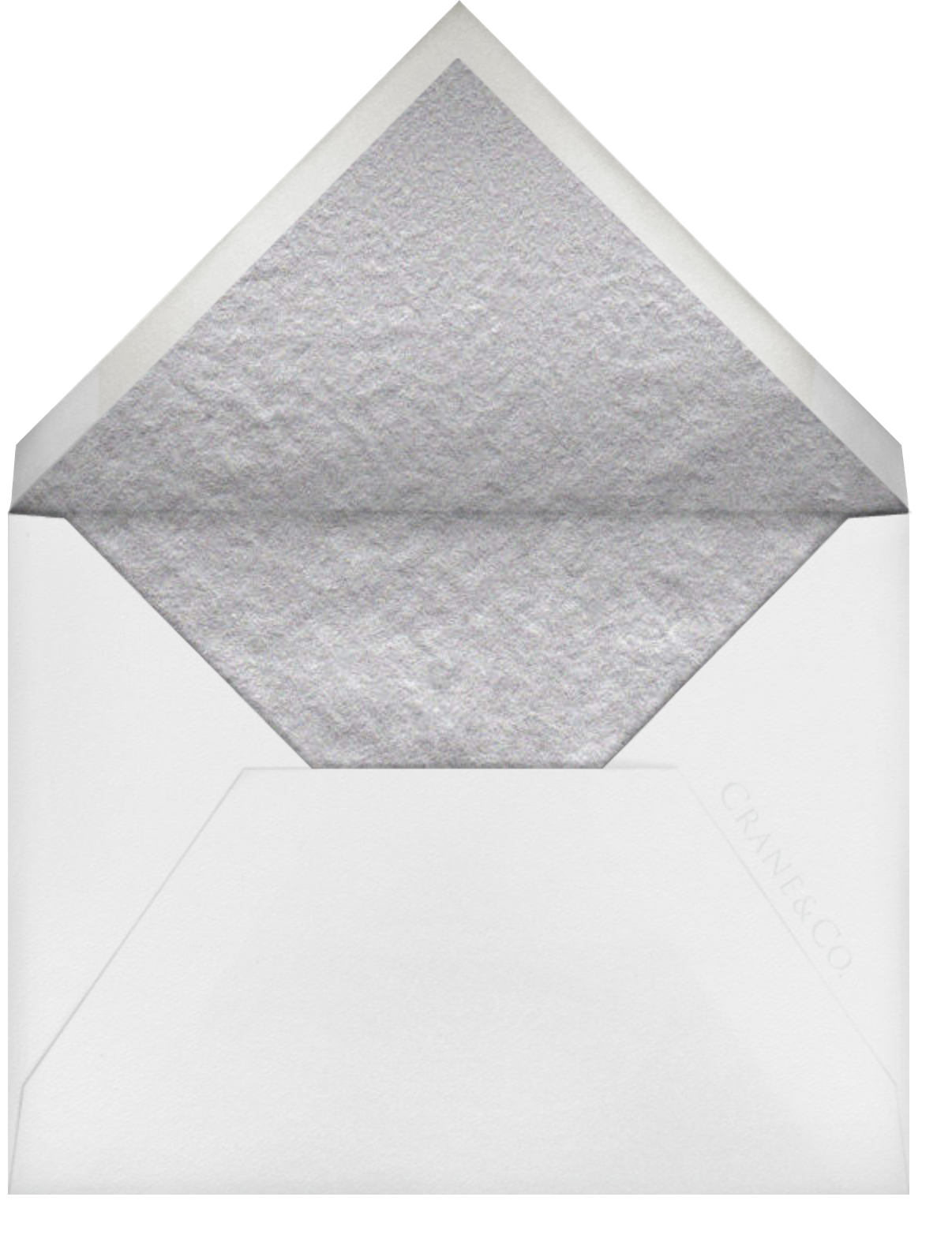 Commerce Street (Save The Date) - Platinum - Crane & Co. - null - envelope back