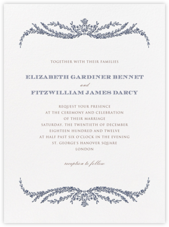 Daphne - Navy Blue - Crane & Co. - Wedding Invitations